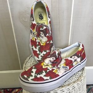 Vans Girls Disney Princess Belle Shoes Size 13.5